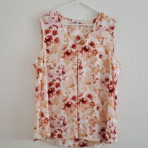 Rose & Olive Rose floral sleeveless blouse